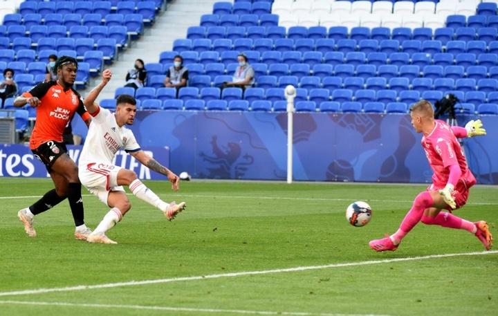 Lyon's Bruno scored a brace against Lorient. AFP