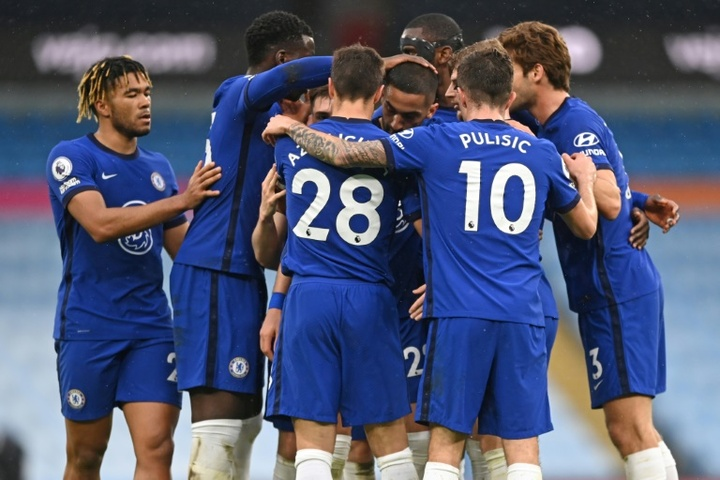 Chelsea turned it around at the Etihad in the 92nd minute winner. AFP