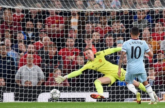 Manuel Lanzini was the hero for West Ham at Old Trafford. AFP