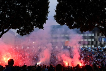 A Marseille supporter has been sentenced to two years in prison. AFP