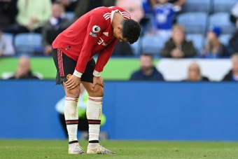 Cristiano Ronaldo could not prevent Manchester United losing 4-2 at Leicester. AFP