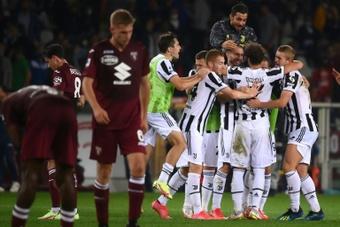 Juve get the city derby win. AFP
