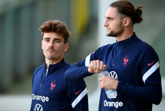 Antoine Griezmann is set to make his 100th France appearance. AFP