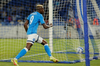 Victor Osimhen has six goals in his last four games for Napoli. AFP