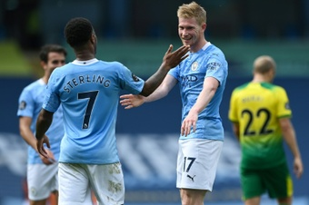De Bruyne says he understands Sterling's frustrations at Man City. AFP