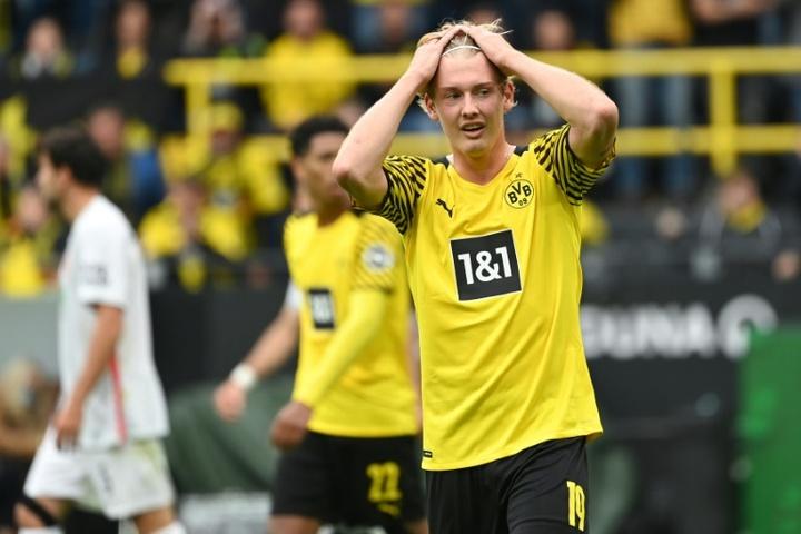 Julian Brandt scored the winner for Dortmund. AFP