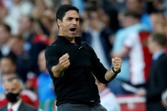 Mikel Arteta fully understands the pressure there is at Arsenal. AFP