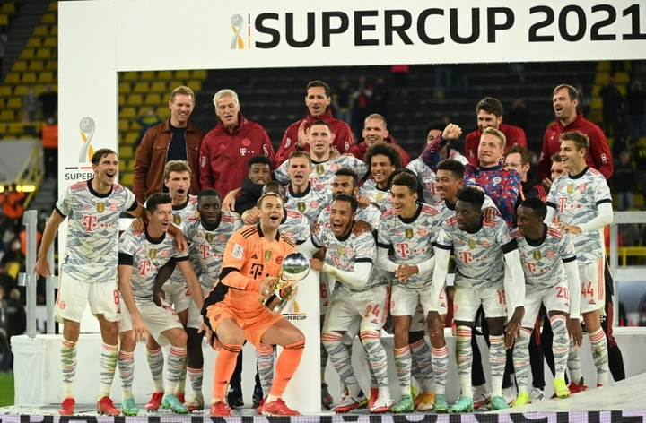 Nagelsmann celebrated his first trophy as Bayern boss in their Super Cup win over Dortmund. AFP