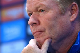 Ronald Koeman was confronted by fans after Barcelonas 2-1 defeat by Real Madrid on Sunday. AFP