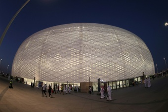 The Al-Thumama stadium has been inaugurated. AFP