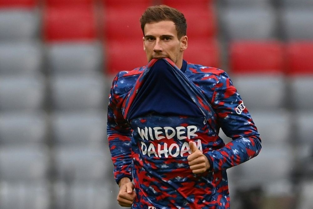 Leon Goretzka signs a new contract with Bayern Munich. AFP