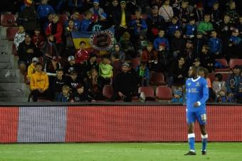 Rangers midfielder Glen Kamara was booed by a crowd of school children in Prague. AFP