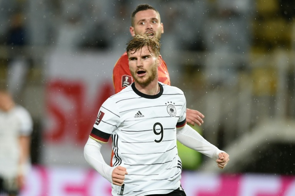 Timo Werner scored twice as Germany beat North Macedonia. AFP