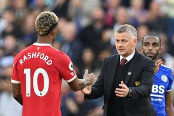 Ole Gunnar Solskjaer is aiming to ride out a wave of criticism over recent performances. AFP