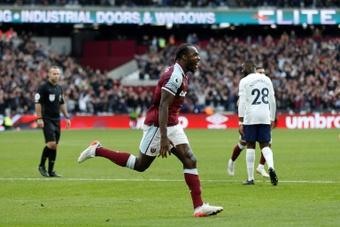 Michail Antonio scored the only goal as West Ham beat Tottenham. AFP