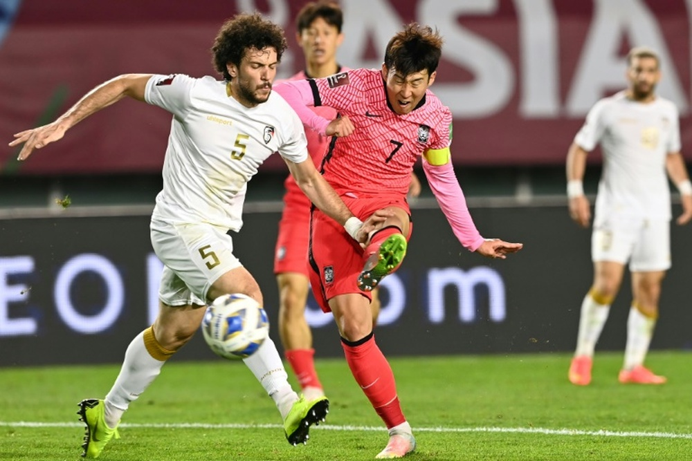 Son Heung-Min got the winner for South Korea over Syria. AFP