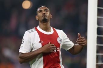 Sebastian Haller netted in Ajax's 2-0 victory over Besiktas. AFP
