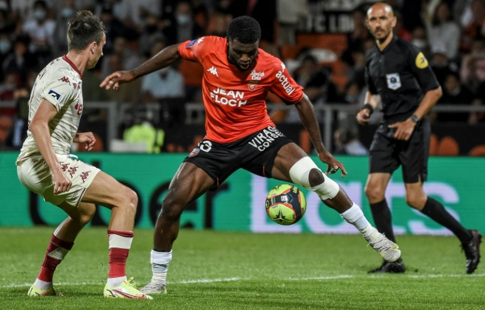Terem Moffi's goal was the difference for Lorient. AFP
