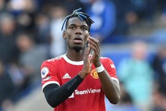 Paul Pogba speaks on United's crisis. AFP