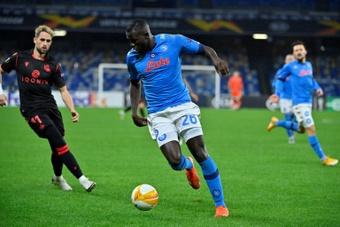 Koulibaly scored as Napoli beat Spezia 4-2. AFP