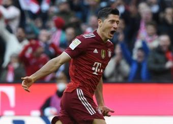 Robert Lewandowski scored as Bayern were far too good for Hoffenheim. AFP