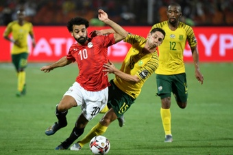 Mohamed Salah playing for hosts Egypt against South Africa in the 2019 Africa Cup of Nations. AFP