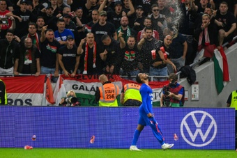 Hungary have been hit a huge fine and will have to play Albania without fans. AFP