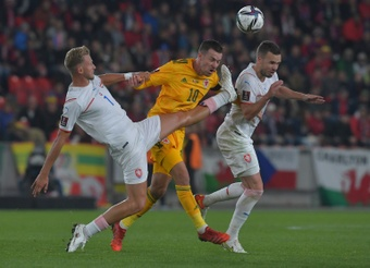 Wales held Czech Republic to a 2-2 draw. AFP