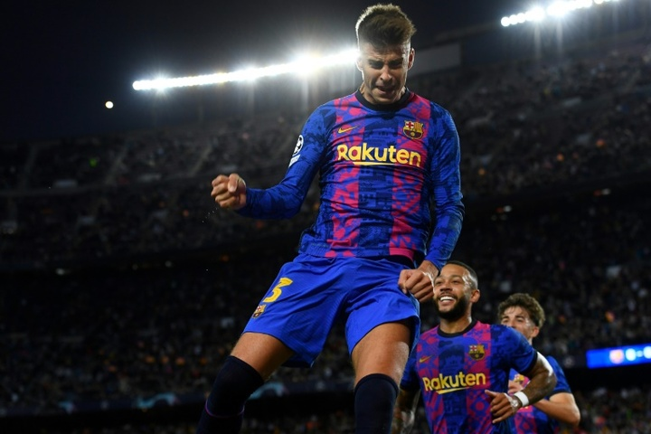 Gerard Pique scored the winner as Barcelona edged past Dynamo Kiev 1-0 in the UCL. AFP