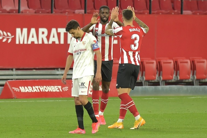 Sevilla's title hopes hit by late win for Athletic Bilbao. AFP