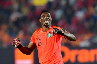 Akpeyi rescued Kaizer Chiefs with several superb saves. AFP