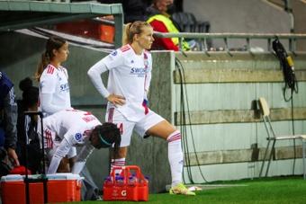 Ada Hegerberg, rétablie, profite de chaque instant avec Lyon. afp