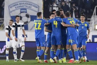 L'Ukraine s'impose en Finlande et prend la 2e place du Groupe D. AFP