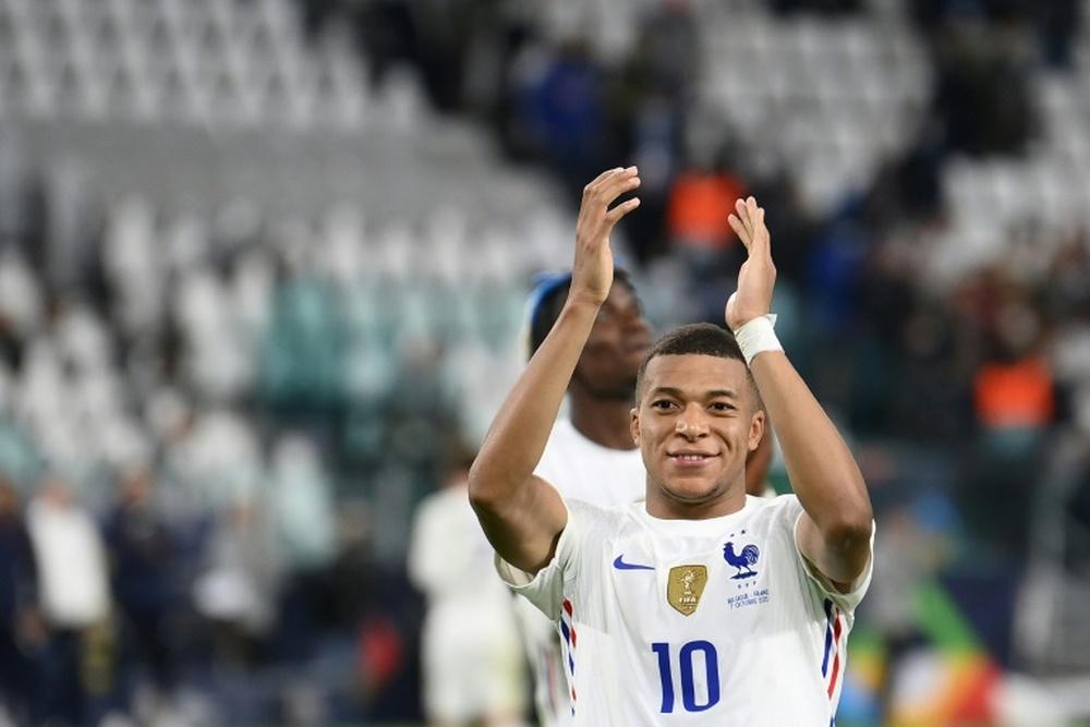 Mbappé retrouve le sourire et le but avec les Bleus. AFP