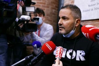 Les excuses d'un prévenu à Valbuena. AFP