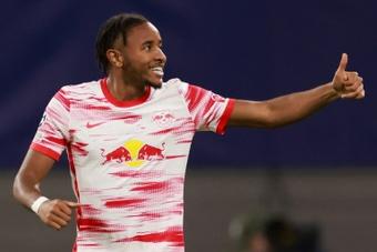 Doublé de Nkunku pour Leipzig, Dortmund reste au contact. afp