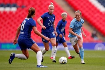 Avec Chelsea, Bethany England rêve d'une finale 'mémorable'. AFP