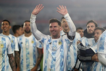 Messi bat le record de buts de Pelé dans une sélection sud-américaine. AFP