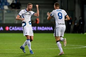 Dzeko sauve l'Inter, première pour la Salernitana. afp