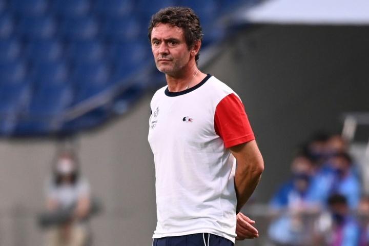 Sylvain Ripoll le sélectionneur de léquipe de France espoirs de football. AFP
