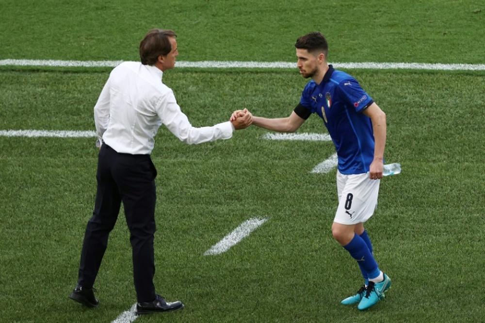 Ballon d'or: Mancini trouverait étrange que Jorginho ne gagne pas. AFP