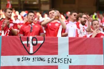 Simon Kjaer a été primé par l'UEFA pour avoir sauvé son ami, Chrisitan Eriksen. AFP