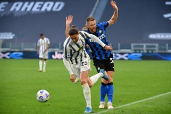 Inter et Juventus, monuments fragilisés du football italien. afp