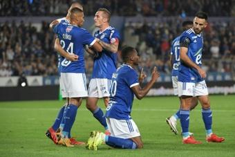 Strasbourg écrase Metz dans un superbe derby de l'Est. AFP