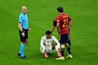 Varane touché aux adducteurs. AFP
