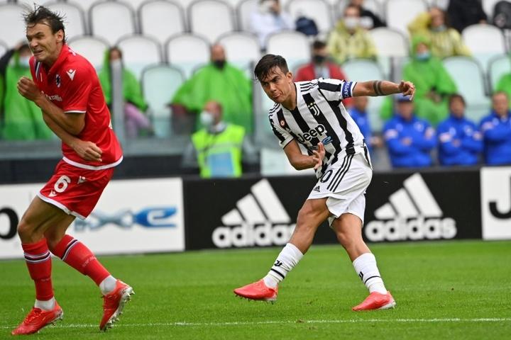 Dybala auteur du premier but de la rencontre. AFP