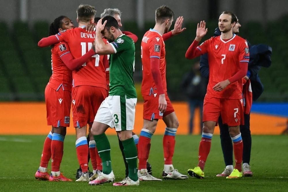 Exploit du Luxembourg qui s'impose 1 à 0 en Irlande. afp