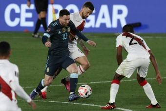 Une victoire, trois points c'est tout pour l'Argentine. AFP