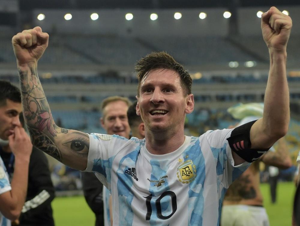 Messi est arrivé à Caracas pour le match contre le Venezuela. AFP