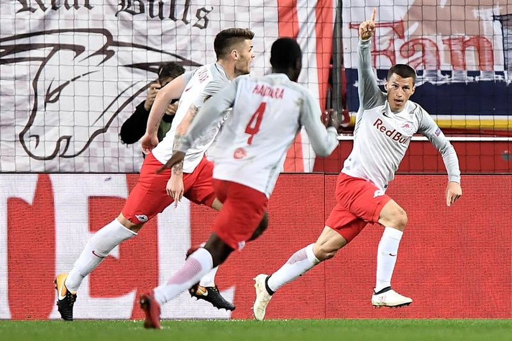 El Salzburgo remontó y estará en semis de Europa League. EFE